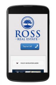 Ross Real Estate mobile website